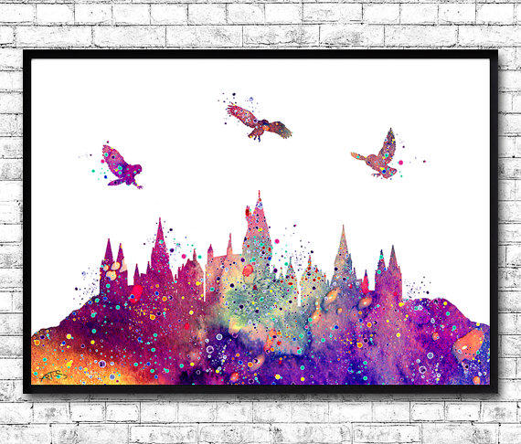 Hogwarts Castle From Harry Potter from ArtsPrint on Etsy