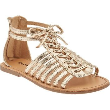 Old Navy Lace Up Gladiator Sandals For Baby