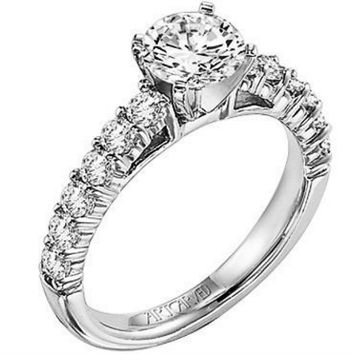 "Artcarved ""Natalie"" Prong Set Diamond Engagement Ring"
