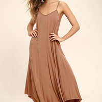 Others Follow Kiara Rusty Rose Maxi Dress