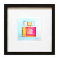 """Kate Spade """"Live Color Fully"""" watercolor illustration by Paula Prass. This colorful print is available in two sizes"""