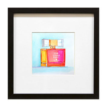 "Kate Spade ""Live Color Fully"" watercolor illustration by Paula Prass. This colorful print is available in two sizes"