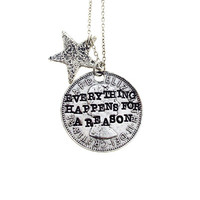 Silver Everything Happens for a Reason Necklace