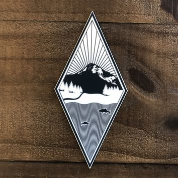 Black and White Diamond Northwest Vinyl Sticker