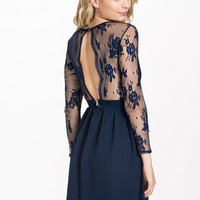 L/S Lace Dress, Elise Ryan