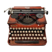 Pre-owned Early-20th C. Enamel Royal Portable Typewriter