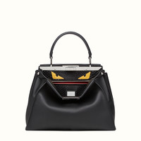 FENDI | REGULAR PEEKABOO in black leather with insert