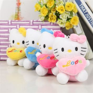 Super Cute hello kitty Cats Plush Stuffed Cartoon Toys Kids Appease Doll Christmas Birthday Gifts Pendant TOY Wedding Bouquet