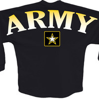 Army star J america women Long sleeve shirt pom print