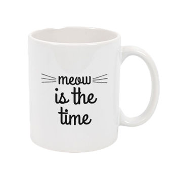 Meow Is The Time Mug