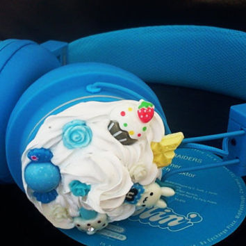 Blue Bunny Sweets Urbanears Headphones by glamasaurus on Etsy