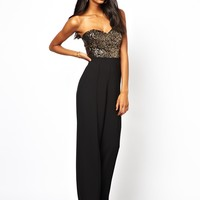 Lipsy Jumpsuit with Sequin Bust