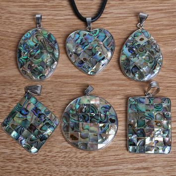 Hot Selling Multi-Size Natural Mother of Pearl Abalone Shell Pendant for Fashion Jewelry Findings Making