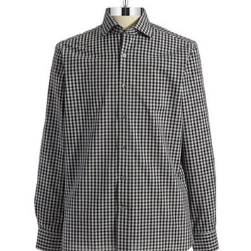 Black Brown 1826 Checkered Sportshirt