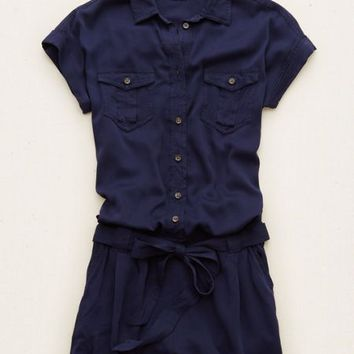 Aerie Military Romper , Olive | Aerie for American Eagle