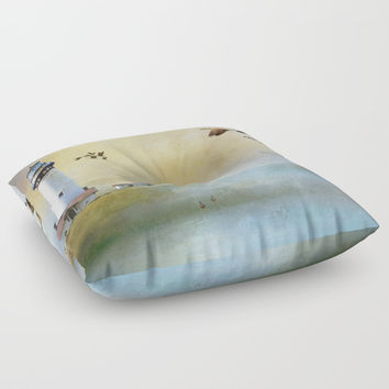 Lighthouse Bay II Floor Pillow by Theresa Campbell D'August Art