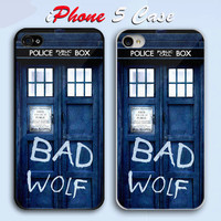 Tardis Bad Wolf  Custom iPhone 5 Case Cover