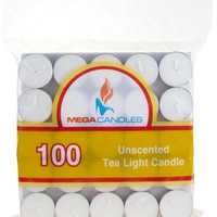 100 piece Unscented Tea Light Candle in Bag - White - 12 Units