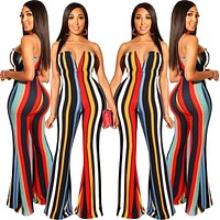 2020 new women's sexy tube top V-neck jumpsuit