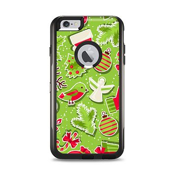 The Red and Green Christmas Icons Apple iPhone 6 Plus Otterbox Commuter Case Skin Set