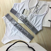 """Calvin Klein"" Print Bra Brief Panty Underwear Lingerie Set Bikini Two-Piece"