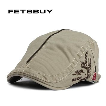 FETSBUY Spring And Autumn Vintage Simple Solid Unisex Solid Beret Buckle Flat Caps Warmer Berets Leisure Hat For Womens Mens