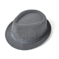 Gray Fedora with Striped Band