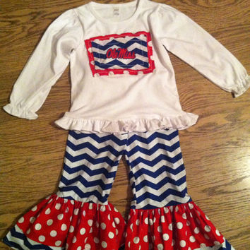 Ole Miss Double Ruffle Outfit