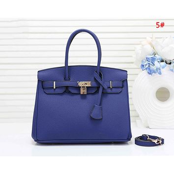 Hermes Fashion New Leather Shopping Leisure Handbag Shoulder Bag Women Two Piece Bag 5#