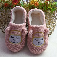 Home Shoes slippers children cotton confinement shoes winter style lovely embroidery pattern warm