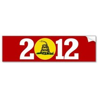 Tea Party 2012 Bumper Sticker from Zazzle.com
