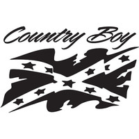 Country Boy, Rebel Flag, Battle Flag, Confederate Flag (decal)