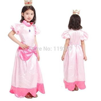 Shanghai Story Retail New Children halloween costumes,girls The peach cosplay princess costumes FOR girls 4-12age