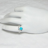 Sleeping Beauty Turquoise Ring Pinky or Toe Ring Genuine Turquoise