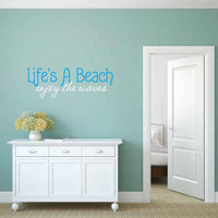 Life's a Beach Enjoy the Waves Vinyl Wall Words Decal Sticker Graphic