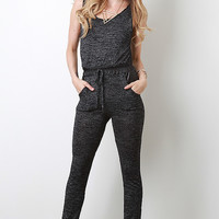 Soft Knit With Leatherette Jumper