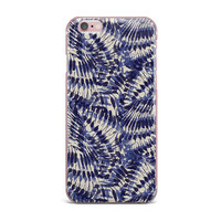 "Gukuuki ""Iggy Palms"" Navy Blue iPhone Case"