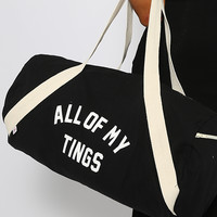 Private Party - All My Tings Gym Bag - Black