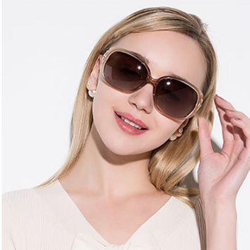 Fashion Vintage Oversized Polarized Sunglasses Women Goggles 2018 Brand Designer Mirror Driving Sun Glasses Uv400 Lenses Shades