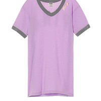 V-Neck Ringer Tee - PINK - Victoria's Secret