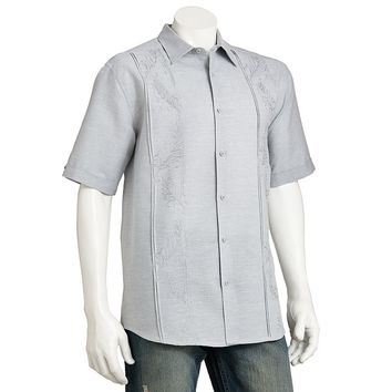 Havanera Floral Chambray Casual Button-Down Shirt - Big & Tall, Size: