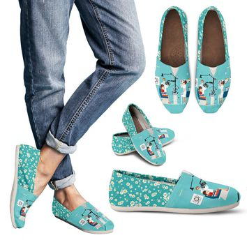Floral Optometry Casual Shoes