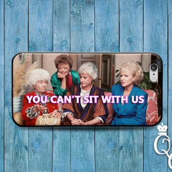 iPhone 4 4s 5 5s 5c 6 6s plus iPod Touch 4th 5th 6th Generation Cover Funny Custom You Can't Sit With Us Quote Fun Cute 90s Show Phone Cover