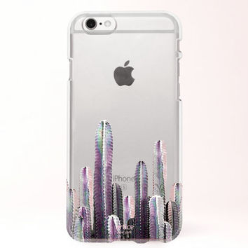 Clear iPhone 6 case, iPhone 6s case, iPhone 6 plus case, iPhone 6s plus case, iPhone 5S Case, Samsung Galaxy Case - Cactus