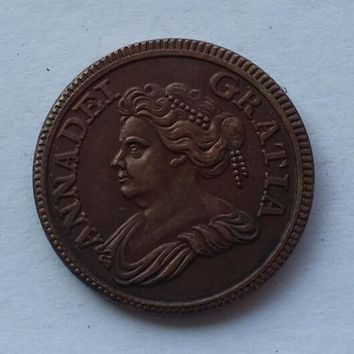 UK,1714,1Farthing,very rare copy coin