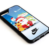 Nike.Cartoon Santa Claus Christmas iPhone 5 5s 5c 6 6s 7 8 X Plus Protect Case