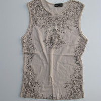 Skinny Minnie Sequin Embellished Campanule Sleeveless Top S