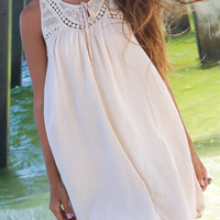 Holland Chic Beige Sleeveless Dress