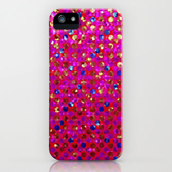 Polkadots Jewels G216 iPhone & iPod Case by MedusArt