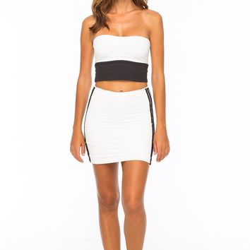 INDAH Body Sable Top in Tech White